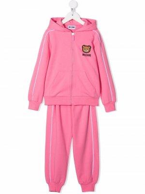 Спортивный костюм с нашивкой Teddy Bear Moschino Kids. Цвет: розовый