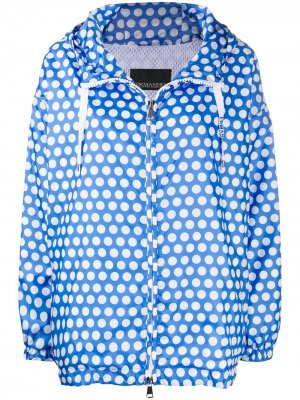 Куртка в горох на молнии Ermanno. Цвет: синий