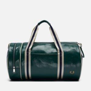 Дорожная сумка Colour Block Classic Barrel Fred Perry. Цвет: зелёный