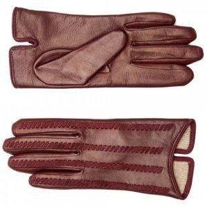 Перчатки Fabi. Цвет: бордовый