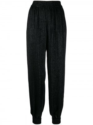 Блестящие брюки-шаровары Saint Laurent. Цвет: черный