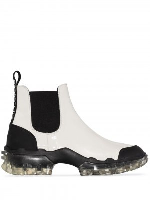 Ботинки челси Hanya Moncler. Цвет: белый