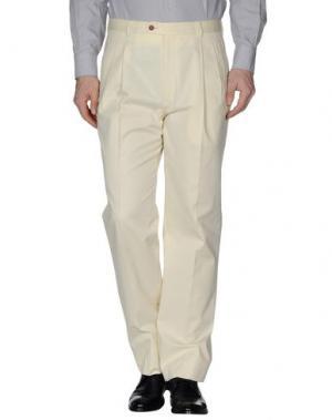 Классические брюки VZONE VALENTINO. Цвет: слоновая кость