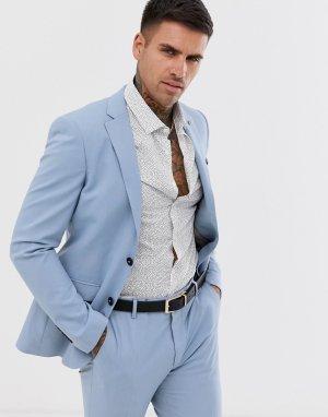 Голубой пиджак скинни Avail London