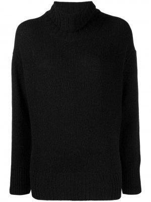 Трикотажный свитер с высоким воротником Woolrich. Цвет: черный