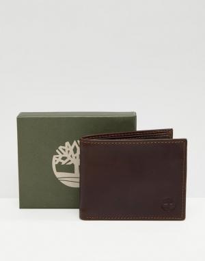 Темно-коричневый бумажник Grafton Timberland. Цвет: коричневый