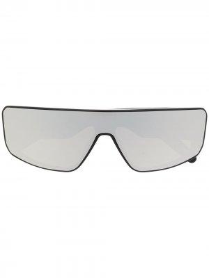 Зеркальные солнцезащитные очки Rick Owens. Цвет: черный