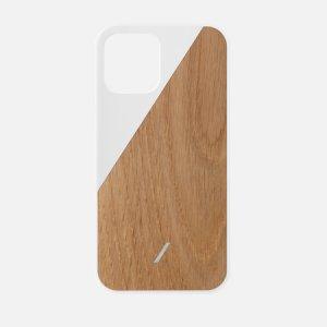 Чехол Clic Wooden iPhone 12 Pro Max Native Union. Цвет: белый