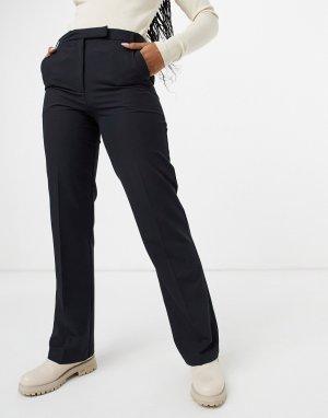 Строгие брюки прямого кроя -Черный цвет ASOS DESIGN