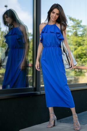 Платье FOBYA. Цвет: синий