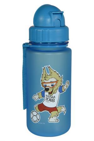 Бутылка детская 0,4 л FIFA licensed products. Цвет: синий
