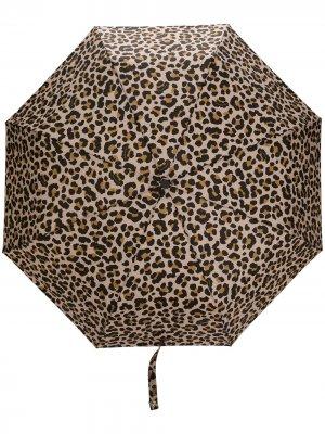 Зонт AYR с леопардовым принтом Mackintosh. Цвет: нейтральные цвета