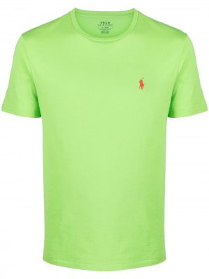 Футболка с вышивкой Polo Pony Ralph Lauren. Цвет: зеленый