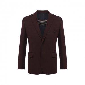 Шерстяной пиджак Brioni. Цвет: коричневый