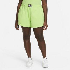 Женские шорты с эффектом выцветания Nike Sportswear (большие размеры) - Зеленый