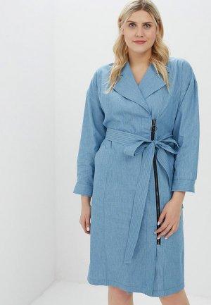 Платье джинсовое Svesta. Цвет: голубой