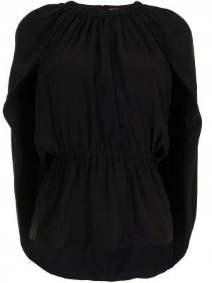 Блузка с кейпом Altuzarra. Цвет: черный