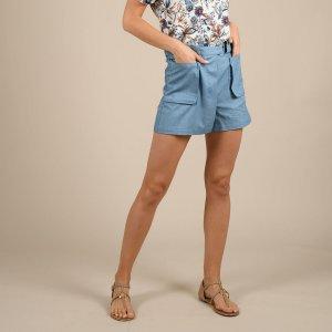 Шорты-юбка La Redoute. Цвет: синий