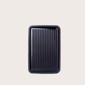 Маленький кошелек в форме чемодана SHEIN. Цвет: чёрный