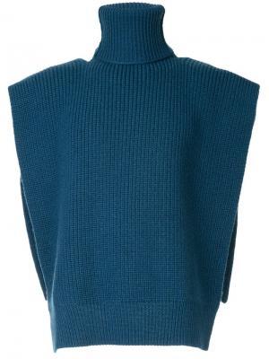 Knitted vest Raf Simons. Цвет: синий