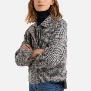 Пальто-бушлат La Redoute. Цвет: серый
