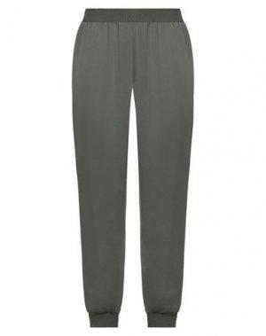 Повседневные брюки BCBGMAXAZRIA. Цвет: зеленый-милитари