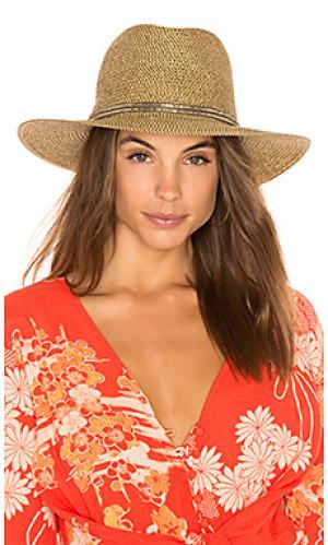 Шляпа kenzie ale by alessandra. Цвет: коричневый