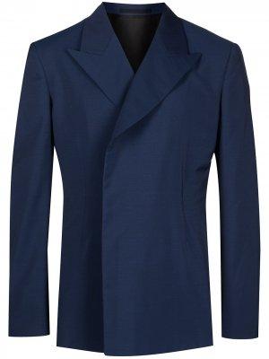 Однобортный пиджак Comme Des Garçons Homme Plus. Цвет: синий
