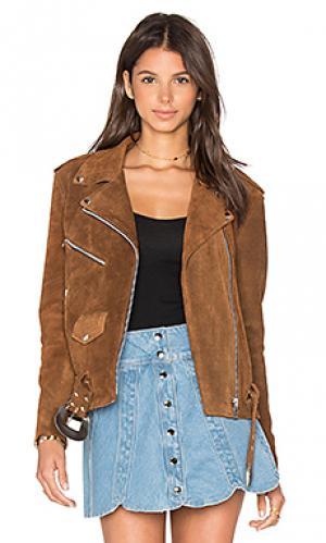 Замшевая косуха western Understated Leather. Цвет: цвет загара