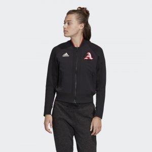 Куртка-бомбер VRCT Athletics adidas. Цвет: черный