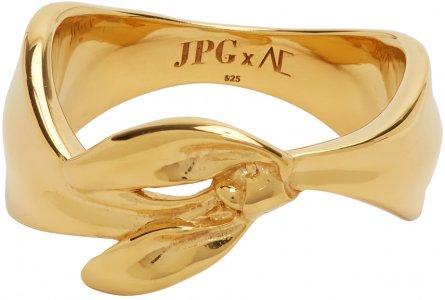 SSENSE Exclusive Gold Alan Crocetti Edition Bandana Ring Jean Paul Gaultier. Цвет: 92-gold