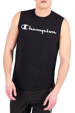 Майка Legacy Sleeveless Champion. Цвет: черный