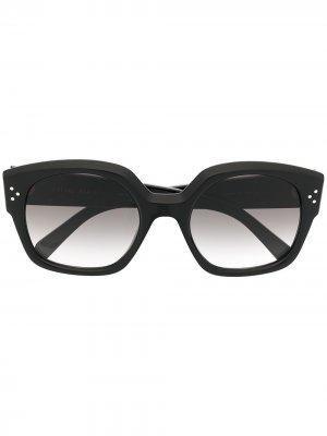 Солнцезащитные очки с градиентными линзами Celine Eyewear. Цвет: черный
