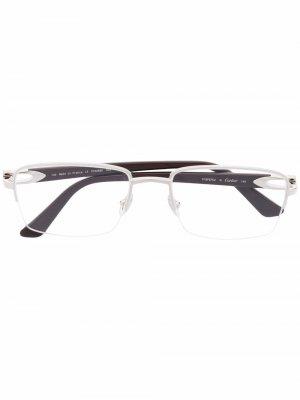 Очки C Decor в прямоугольной оправе Cartier Eyewear. Цвет: коричневый