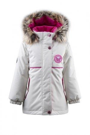 Куртка MIRIAM KERRY. Цвет: молочный;бежевый