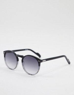 Круглые солнцезащитные очки унисекс в черной оправе с линзами черным градиентным тонированием Cut Eighteen-Черный цвет Spitfire