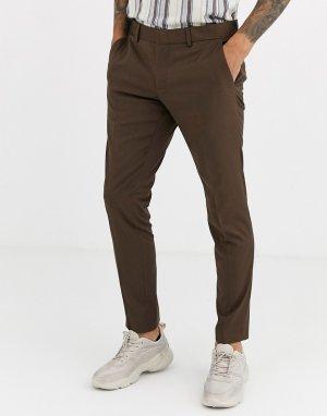 Облегающие брюки -Светло-коричневый Esprit