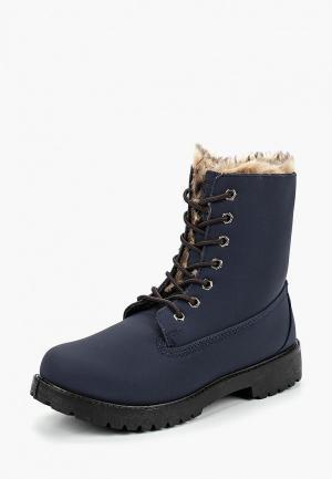 Ботинки Trien. Цвет: синий