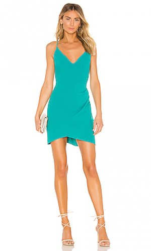 Мини платье giovanni Amanda Uprichard. Цвет: сине-зеленый