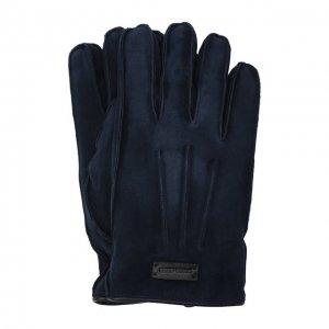 Замшевые перчатки Giorgio Armani. Цвет: синий