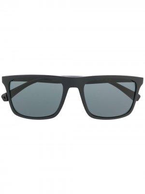 Солнцезащитные очки в квадратной оправе Emporio Armani. Цвет: черный