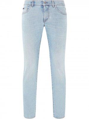 Прямые джинсы Dolce & Gabbana. Цвет: синий