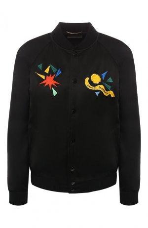 Бомбер Saint Laurent. Цвет: черный