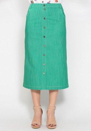 Юбка джинсовая D.VA. Цвет: зеленый