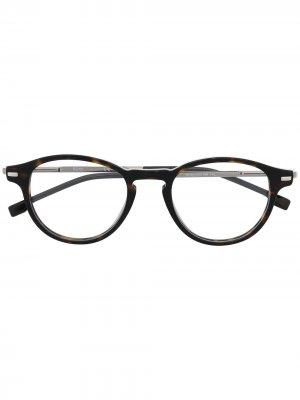 Солнцезащитные очки в круглой оправе BOSS. Цвет: черный