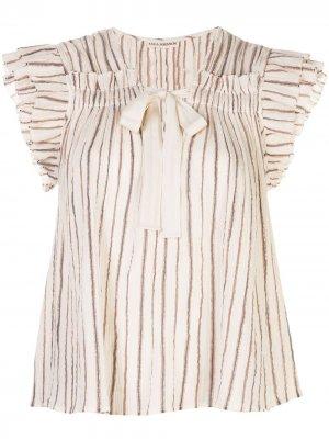 Блузка Bria в полоску Ulla Johnson. Цвет: белый