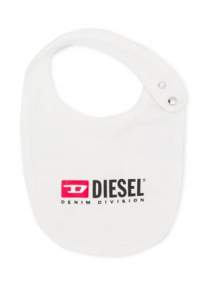 Нагрудник с логотипом Diesel Kids. Цвет: белый