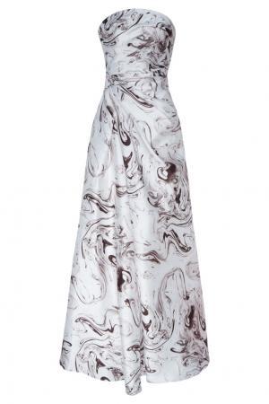 Платье с открытыми плечами Adolfo Dominguez. Цвет: multicolor