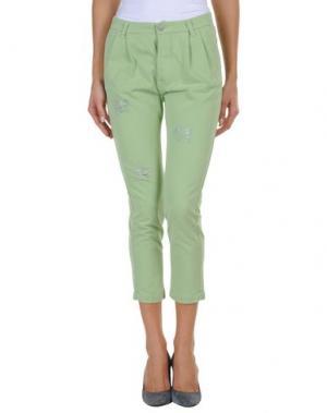 Повседневные брюки FEMME by MICHELE ROSSI. Цвет: светло-зеленый