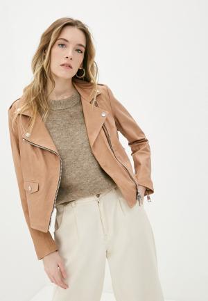 Куртка кожаная Imperial. Цвет: коричневый